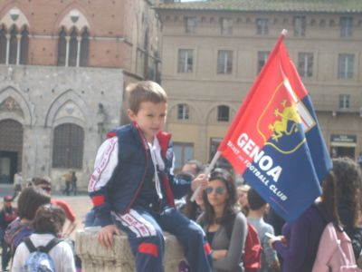 3500 Genoa-fans including many children went to Siena