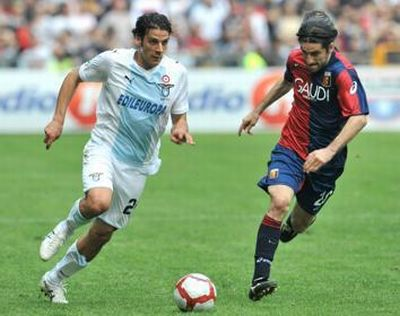 Ivan Juric and Sergio Floccari, together with Genoa till last January
