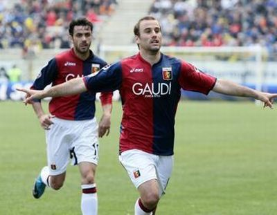 Rodrigo Palacio scored twice in Parma