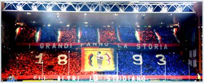 Genoa-fans as usual made a spectacular choreography before the derby