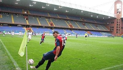 Ivan Fatic with the deciding corner against Milan in an empty stadium