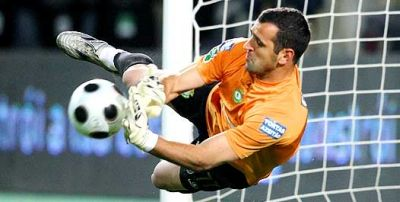 Goalkeeper Eduardo was only beaten by Villa at World-cup 2010 in South Africa