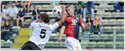 Zaccardo made a handball that gave Genoa a penalty, but the referee forgot the yellow card