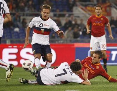 Brighi, Criscito and Rossi touched the ball that ended in the goal of Genoa (2-0)