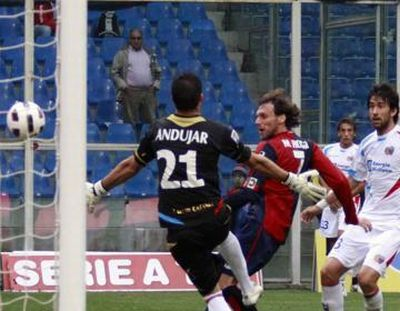 Marco Rossi scores against Catania