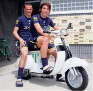 Luca Antonelli (left) and Alberto Paloschi (right) leave Parma together to play with Genoa