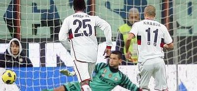 Housinne Kharja realizes the penalty (2-1) and brings Genoa back in the match