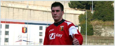 18 years old striker Enej Jelenic in the team against Lazio