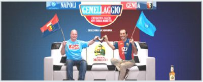 Beercompany Moretti started a campaing with both Genoa and Napoli players and fans