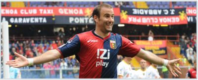 Rodrigo Palacio, topscorer of Genoa in the season 2009-2010 and 2010-2011