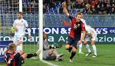 Juraj Kucka celebrates his goal in the 89th minute against Roma: 2-1