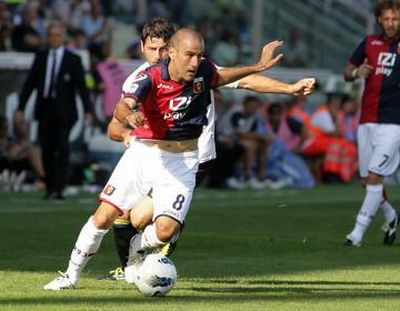 Rodrigo Palacio scored his fifth goal of the season in Parma