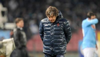 Alberto Malesani after the match against Napoli which was his last one with Genoa