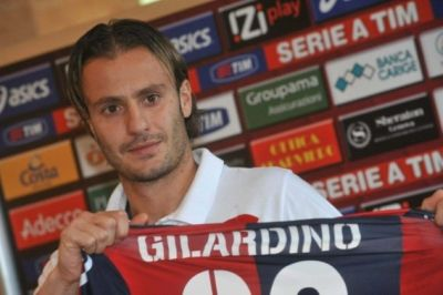 Alberto Gilardino at his presentation with Genoa, 5 January 2012