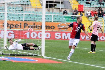 Rodrigo Palacio has scored the openinggoal in Palermo