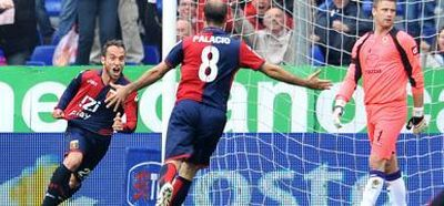Our 2 goalscores against Fiorentina: the Argentinian players Belluschi and Palacio