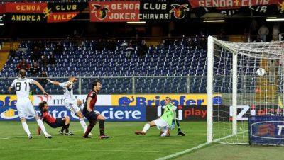 Marco Rossi opened the score just before halftime: Genoa-Cesena 1-0