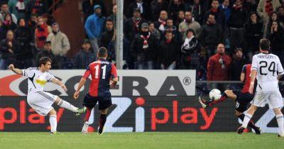 Adrian Mutu scores the equalizer: Genoa-Cesena 1-1