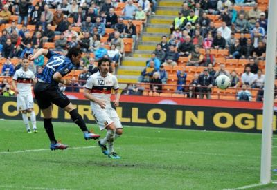 Diego Milito scored 3 times against Genoa but he never seemed happy with the goals … please come back Diego !!