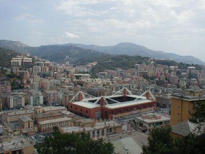 Luigi Ferraris stadium in the Marassi-area of Genova