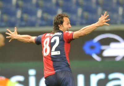Alberto Gilardino scored the first goal against Palermo
