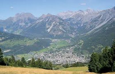 Bormio in North Italy (Lombardia)