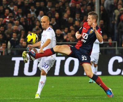 Juraj Kucka against Fiorentina
