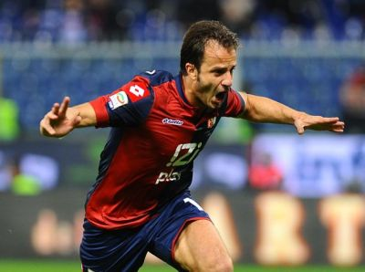 Gilardino celebrates his goals against Parma