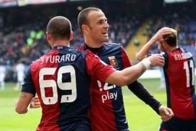 the two goalscorers together